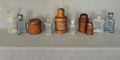 19th 20th Century Small Collection of Treen and Medical Bottles