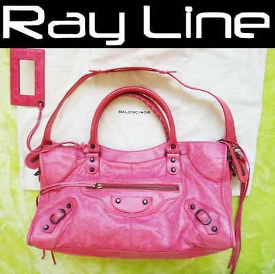 8c8cdf90a0 100% authentic Balenciaga The First 168028 Shoulder Bag Pink Leather Mint  (USED)