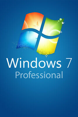 Windows 7 Professional 32 & 64 Bit - Aktivierungsschlüssel Win 7 Pro Download