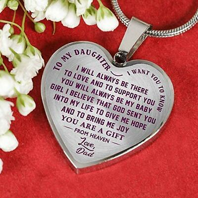 Dad and Daughter Luxury Necklace - from Father - I Want You to Know Love Quotes