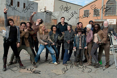The Walking Dead cast photo print poster - Pre signed - Norman Reedus - N.O 2