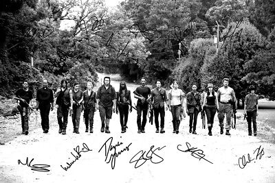 The Walking Dead cast photo print poster - Pre signed - Andrew Lincoln - BW