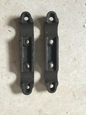 norton 16h matchless g3 wd handle bar clamps NOS