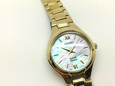Watches, Parts & Accessories Jewelry & Watches Seiko Sup212 Ladies Modern Non-working Sample Solar 22 Diamond Watch V115 0ba0