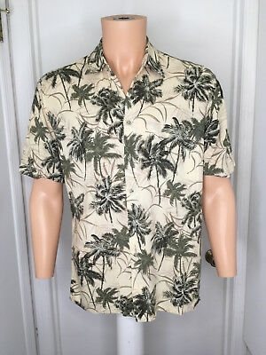 1ffd7973 Vintage Campia Moda Hawaiian Shirt Short Sleeve Rayon Button Palm Trees  Men's M