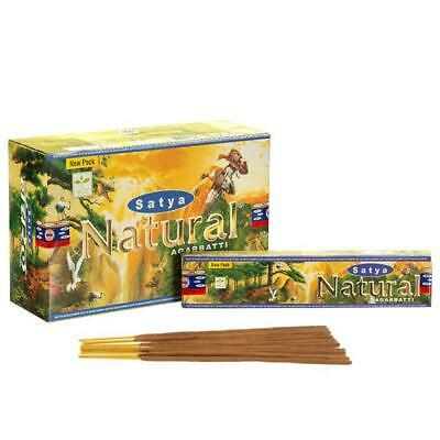 Original Genuine Satya Natural Incense Sticks 15g 30 Minute Burn Yoga Pray