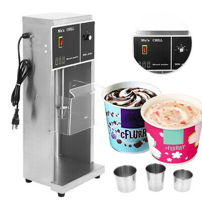 Commercial Electric Auto Ice Cream Machine Blizzard Maker Shaker Blender Mixer