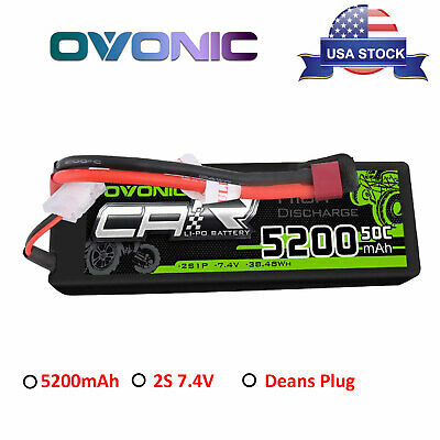 2S 5200mAh 50C 7.4V Lipo Battery Deans T Plug Hardcase For Car Truck Buggy Hobby
