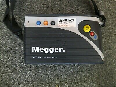 Megger mft 1553 no trip function with calibration cert till Nov 2019  NO RESERVE