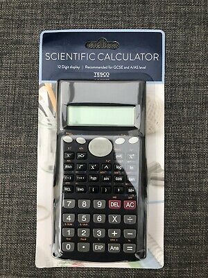 Scientific Calculator 12 Digit Display - Tesco Recommended For GCSE & A/AS Level