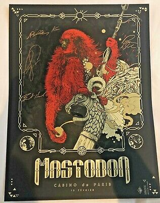 MASTODON SIGNED RICHEY BECKETT PRINT FROM PARIS,France 18x24 inch Limited to 75