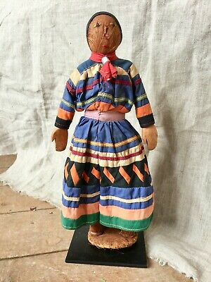 Rare Male Seminole Doll with Carved Wooden Hands