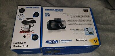 NEXTBASE iNCarCam 412GW Dash Cam Black with hardwire kit And memory Card All New