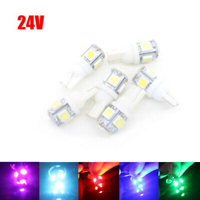 1X 24v T10 5 LED Number Plate Interior Bulbs HGV Truck Sidelight Bulbs W5W 501