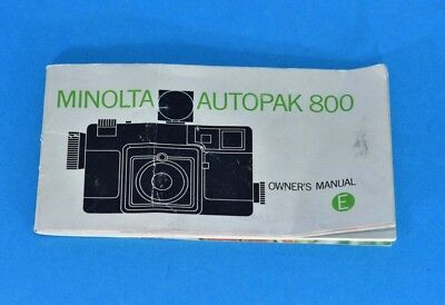 original Minolta Autopak 8 owners manual instructions in ENGLISH P80-9121E