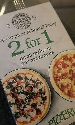 Pizza Express 2 For 1 Voucher  on Mains Valid Most Days Until 23rd May 2019
