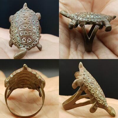 Old Beautiful Turtle Old Stunning Ring   #10G
