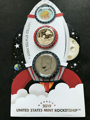 2019 ROCKETSHIP Apollo 11 50th Anniversary 19XGC - PROOF-LIKE Half - Ships FREE