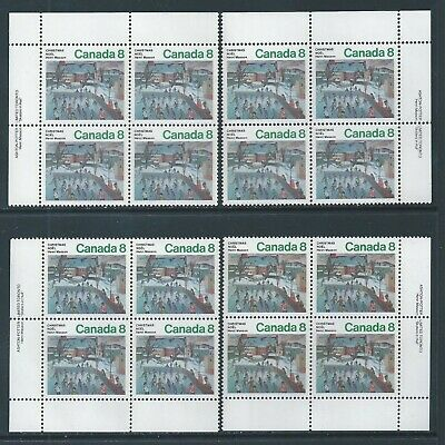 Canada #651 Christmas Matched Set Plate Block MNH