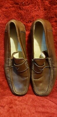 0f9a8aa5721 Men s Bruno Magli Dress Loafers Shoes Brown Soft Leather Vibram 10M