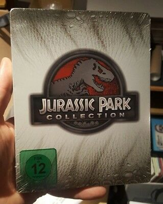 Jurassic Park Collection - Limited Edition Steelbook (Blu-ray) NEW!! World