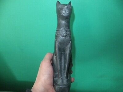 Beautiful Statuette Of The Ancient Egyptian Cat Goddess Bastet (Repro).