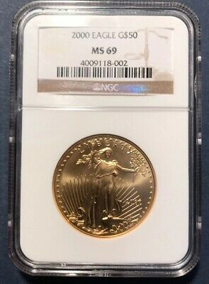 2000 1 oz Gold American Eagle $50 Coin NGC MS 69