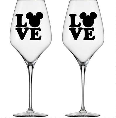 10 x Beauty /& Beast Vinyl Decal//stickers For wine Glass Laptop phone Etc.