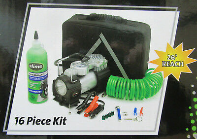 Slime 50063 Truck Spair Flat Tire Repair Kit Heavy Duty Tire Inflator