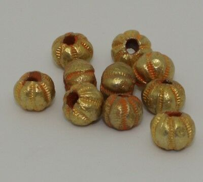 10 X Post Medieval Gold Beads - No Reserve 2901