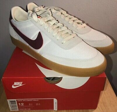 innovative design 0b02b 03d1d Nike Killshot 2 J.Crew Nylon Mesh NEW Size 12 Burgundy Swoosh Casual Sneaker