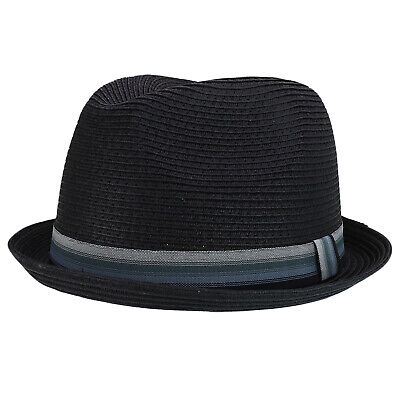 103c20155 MEN'S XXL OVERSIZED Stingy Brim Paper Braid Fedora with Striped Band - FREE  SHIP