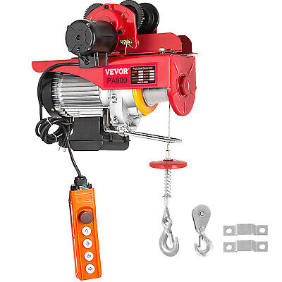 800kg/1700lbs Electric Trolley Hoist Automatic Double 6m/20ft Localfast