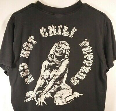 2345b96422602 VINTAGE RARE RED Hot Chili Peppers T-shirt 2008 Size Medium ...