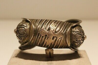 Post Medieval Rare Beautiful  Hand Made Low Sample Silver Bracelet With Cross