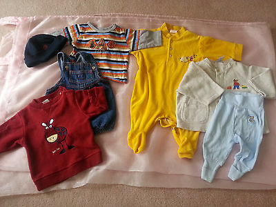 Size 00 Boys 2 X Tops 1 X Hat,1 X Shortalls 1 X Pants 1 X Jacket 1 X Romper Suit