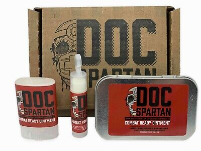 DOC SPARTAN COMBAT READY OINTMENT TRIPLE THREAT CrossFit Fitness Weightlifting
