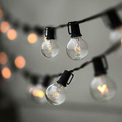 String Lights, Lampat 25Ft G40 Globe String Lights With Bulbs-Ul Listd For Indoo