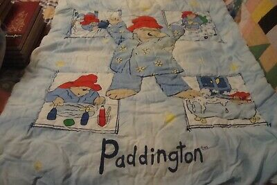 Vintage Paddington Bear Crib~ Quilt, Sheet, Bed skirt , Bumper Pads (4-piece)BOX