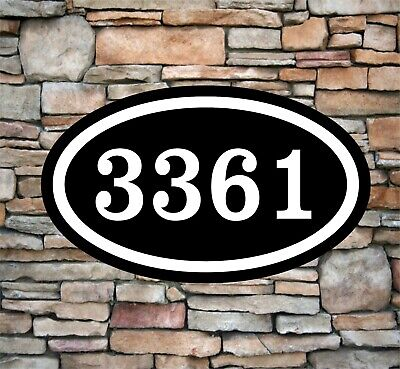 """Personalized Home Address Sign Aluminum 12"""" x 7"""" Custom House Number Plaque OV4"""
