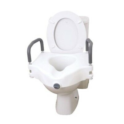 Drive 2 In 1 Universal Plastic Raised Elevated Toilet Seat with Removable Arms