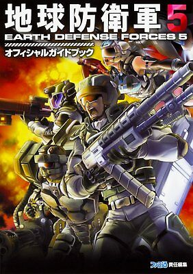 'NEW' Earth Defense Force 5 Official Strategy Guide Book / Japan Game