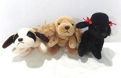 efd6b9f421c SET OF 3 DOGS   PUPPIES Beanie Babies - BERNIE