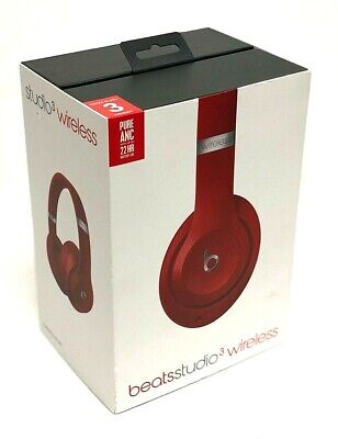 Beats by Dr. Dre Studio 3 Wireless Bluetooth Over-Ear Headphones, Red, MQD02LL/A