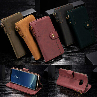 Galaxy S10+ 10 Plus S9 S8 S7 For Samsung Retro Luxury Leather Wallet Case Cover