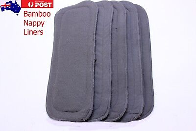 Charcoal Bamboo Fleece Re-Useable Quality Nappy Liners