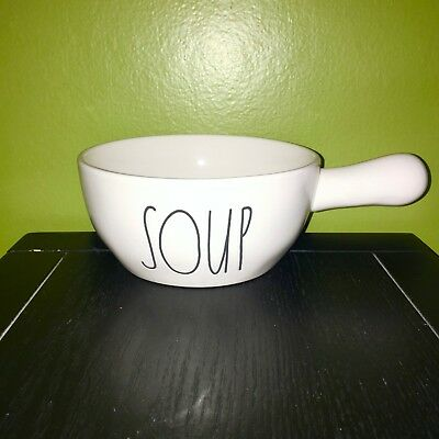 "New RAE DUNN Artisan Collection LL ""SOUP"" Bowl With Handle By Magenta"