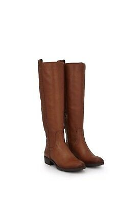 23227f6a006 Sam Edelman Prina Leather Riding Boot Whiskey Brown Studded Tall Knee High  10