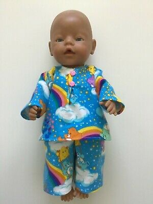 "DOLLS CLOTHES to fit 43cm (17"") BABY BORN *Care Bears~Pyjamas*"