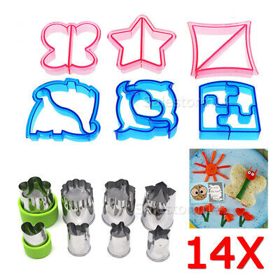 Lunch Kids Sandwich Toast Cookie Cake Bread Biscuit Food Cutter Mold Set Craft